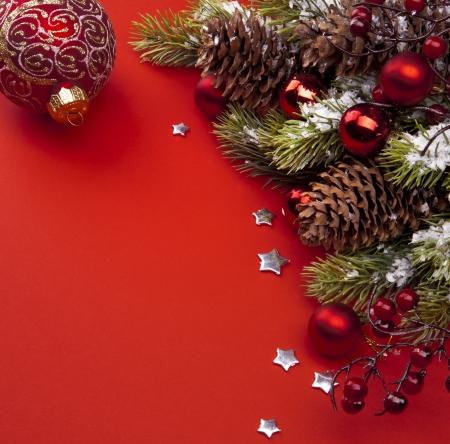 decorating christmas tree: Art Christmas greeting card