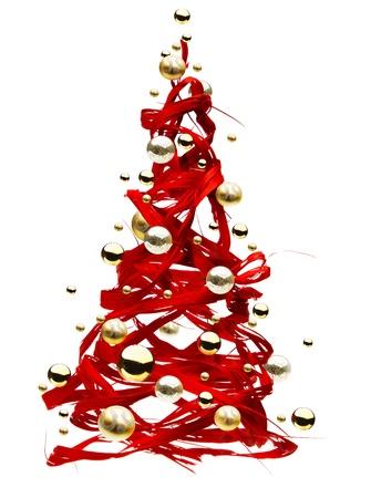 weihnachten tanne: Weihnachtsbaum-Kunst Lizenzfreie Bilder