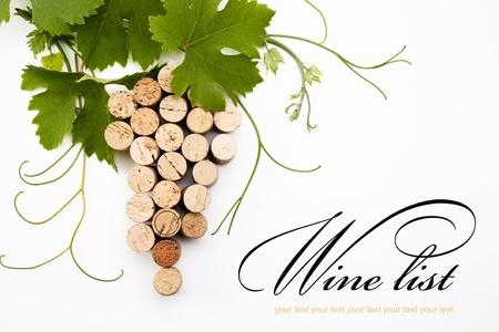 wine cork:  idea to design a wine list Stock Photo