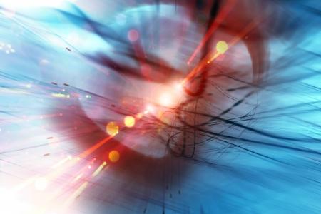 composite image: futuristic blue energy blast Stock Photo