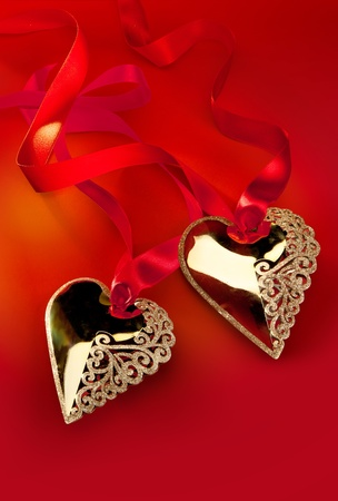 Valentines Day Golden Heart photo