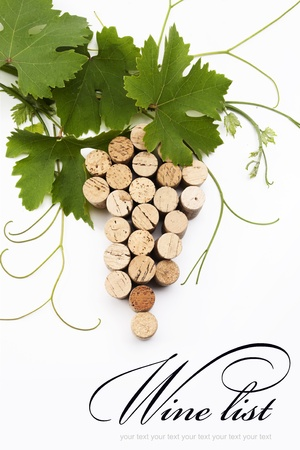 concept  wine list design Stock Photo - 10489456