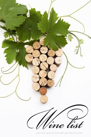 wine cork: concept  wine list design