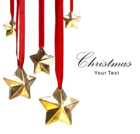 estrellas de navidad: decoraciones de Navidad Foto de archivo