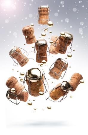corcho: Arte feliz Navidad Árbol de Diseño Foto de archivo