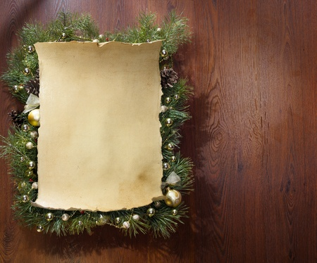 parchment scroll: christmas decorations