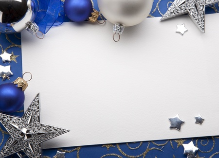 blue christmas background: Christmas greeting card
