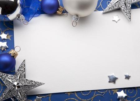 christmas blue: Christmas greeting card