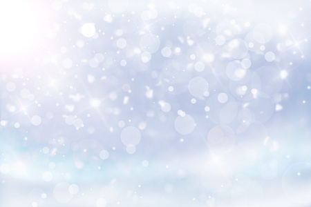 snow background: Art Christmas blue background