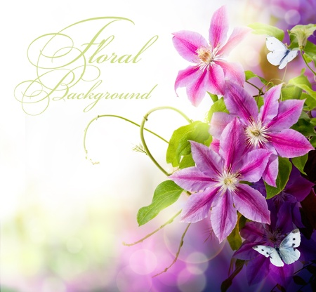 Abstract spring floral background for design Stock Photo - 10542272