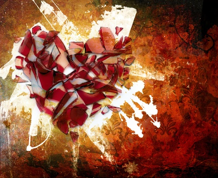 pared rota: Abstracci�n. Una mancha de una pintura. ornamento