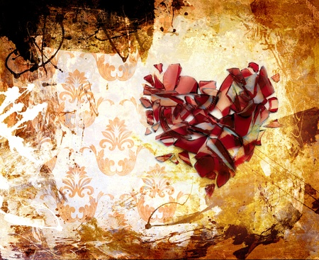 heart broken: Abstraction. A stain of a paint. ornament Stock Photo