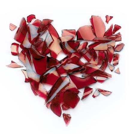 vidrio roto: Arte roto coraz�n Foto de archivo
