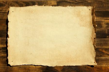 古紙と木材の背景 写真素材