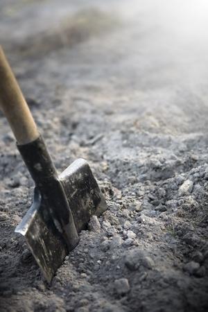 power shovel: shovel to dig on the farm