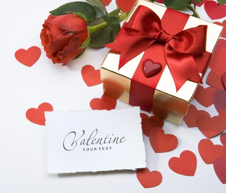 three gift boxes: art valentine