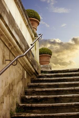 Romantic marble antique ladder photo