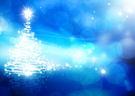 abstracte kerst blauwe achtergrond