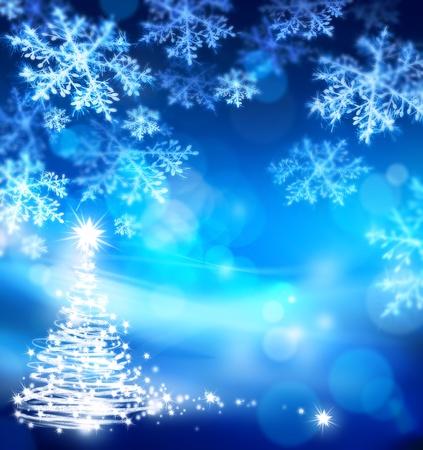abstracte Kerstmis blauwe achtergrond