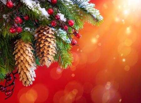 flak: Art Christmas snowy tree