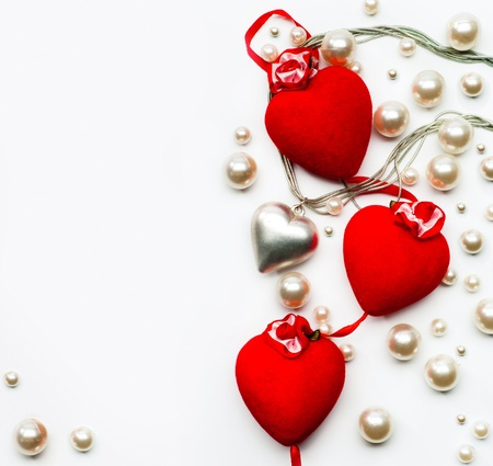 Design a greeting card with hearts  Happy Valentine photo