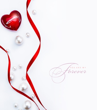 Art Design a greeting card with love heart Happy Valentine Day photo
