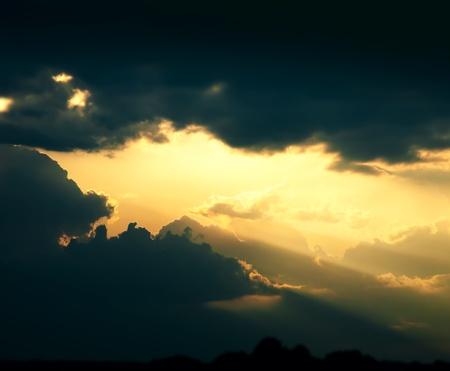 dramatic dark clouds sky background Stock Photo - 12782463