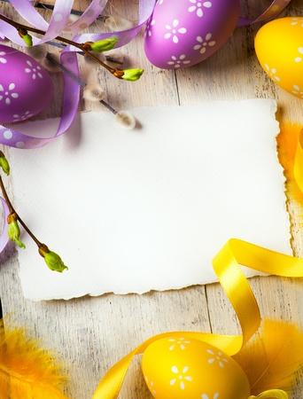 huevos de pascua: Pascua de fondo con los huevos de Pascua