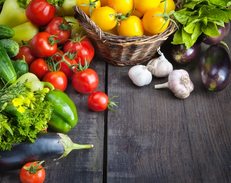 vegetable: organic food background; Farmers Vegetable Market