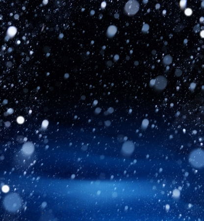 snow christmas magic lights background photo