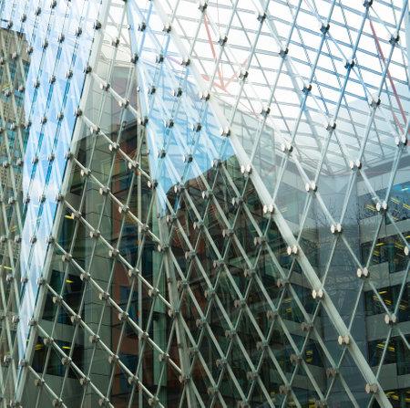 exterior of modern glass business center  Stock Photo - 19074833