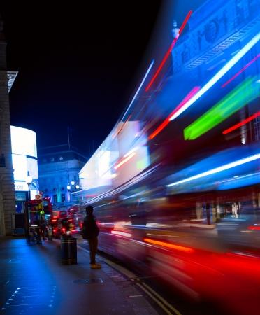 Art London night city traffic Stock Photo - 20937378