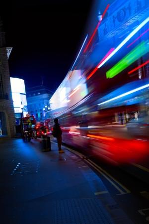 abstract london: Art London night city traffic Stock Photo
