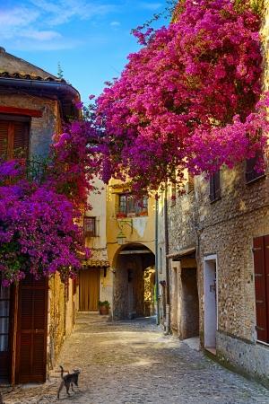 umění, krásné staré město z Provence