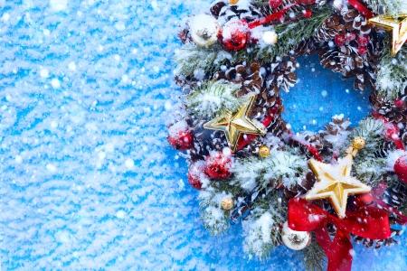 weihnachtskarten: Art Weihnachten und Neujahr Hintergrund