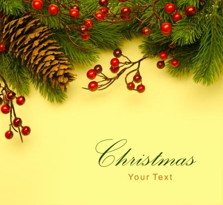 cor: Art Christmas retro greeting card