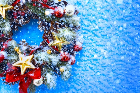 Art Christmas and New Year's background Stock Photo - 23184164