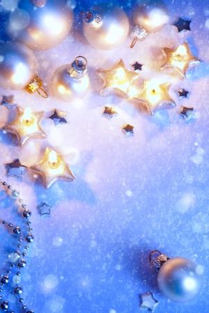 art blue snow Christmas background Reklamní fotografie - 23319745