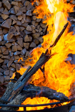 embers: abstract grill flame background Stock Photo