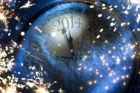 Art magic Christmas and New year eve 2014 Stock Photo - 24195713