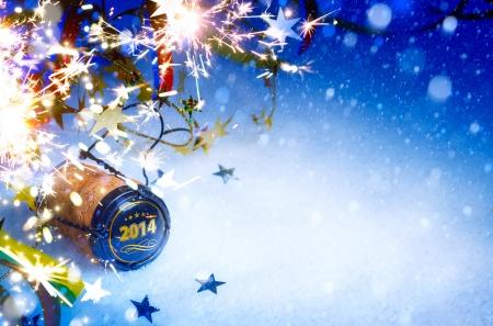 muerdago navideÃ?  Ã? Ã?±o: arte de la Navidad y la fiesta de Año Nuevo 2014