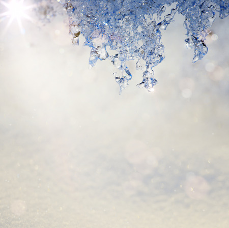 naturaleza: Art Spring Texture in the form of melting snow with a blue tinted Stock Photo