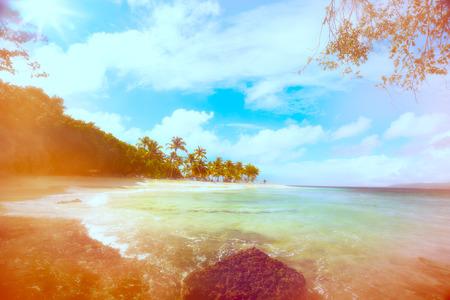Art vacaciones en la playa del océano de Verano