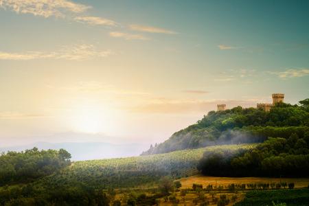 Italian Medieval Village landscape photo
