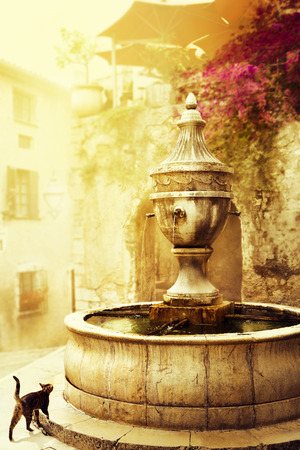 art beautiful old town of Provence Stock Photo