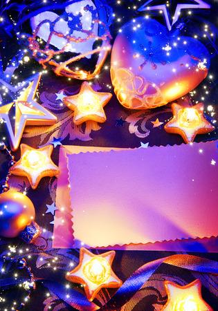 romantic christmas greeting card  photo
