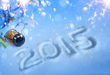 nouvel an: art 2015 partie de nouvelle ann�e avec du champagne