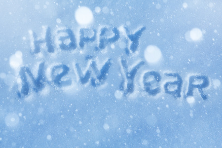 art Happy New Year lettering Greeting Card photo