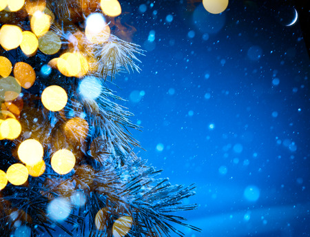 landscape background: Christmas tree