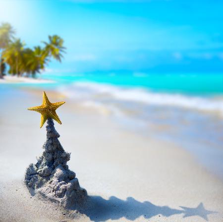 palmeras: arte tropical de vacaciones de Navidad